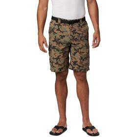 Columbia Silver Ridge Printed Cargo Pantalones Cortos Hombre, verde